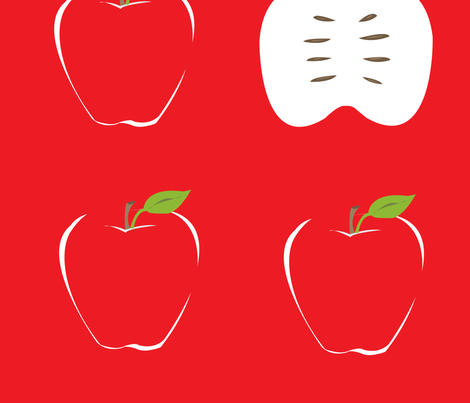 apples3 fabric by featheredneststudio on Spoonflower - custom fabric