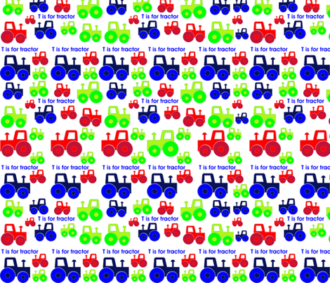 Tractor_fabric fabric by ashleighhoyledesign on Spoonflower - custom fabric