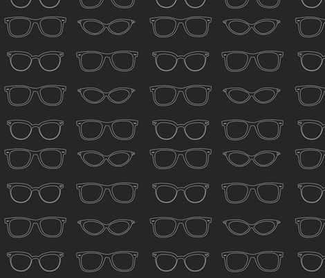 glasses fabric by annaboo on Spoonflower - custom fabric