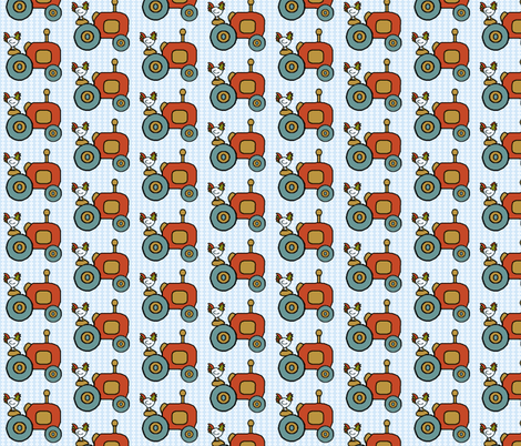 Little Farm Tractor fabric by kdl on Spoonflower - custom fabric