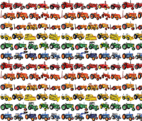 Rainbow Tractor Time fabric by sarahthomas on Spoonflower - custom fabric