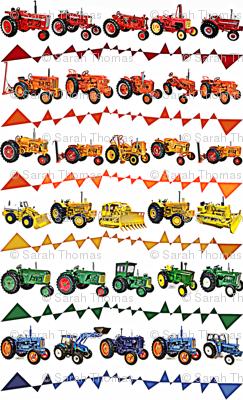 Vivid Rainbow Tractor Fun Time