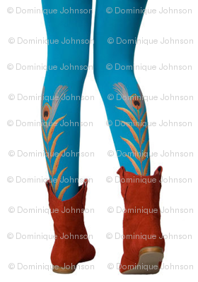 TURQUOISE PEACOCK LEGS
