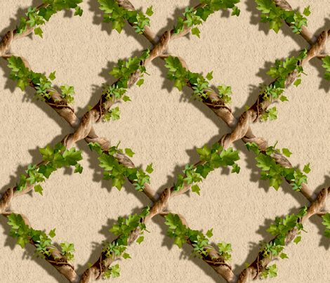 Ivy Trellis fabric by juliamonroe on Spoonflower - custom fabric