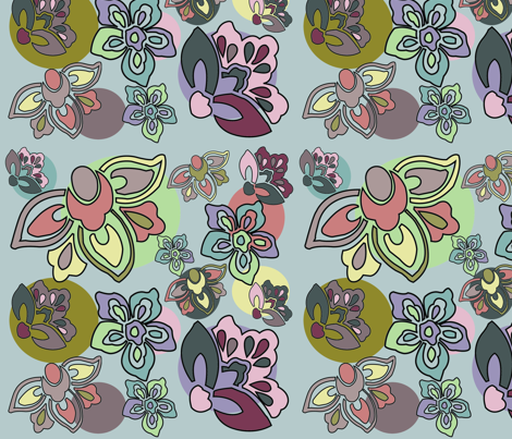 PastelFlower fabric by mallymal on Spoonflower - custom fabric