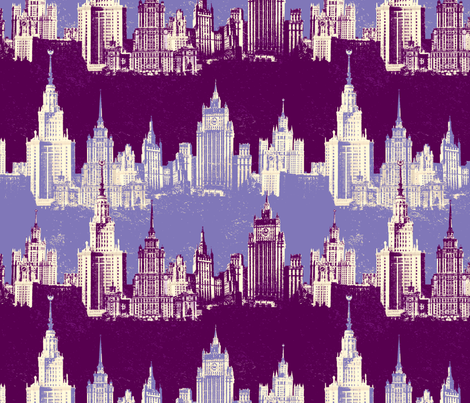 Moscow Skyscrapers fabric by tinet on Spoonflower - custom fabric