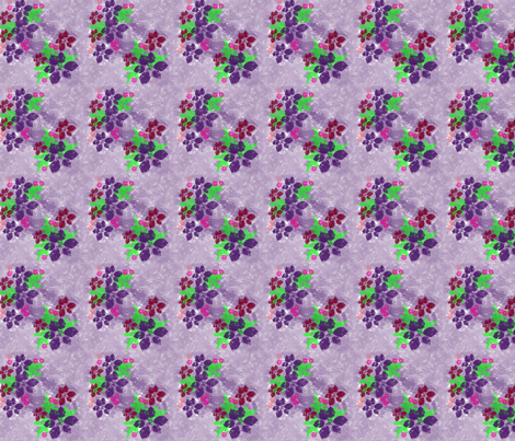 Purple Flowers fabric by snooky on Spoonflower - custom fabric