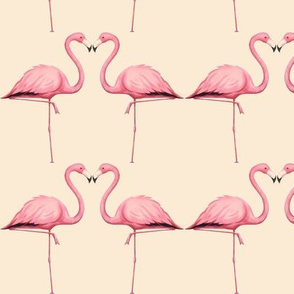 Flamingo in Peach and Pink