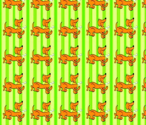 Dipley-Doo-Dog-Stripes-Vintage fabric by sohaylasmith on Spoonflower - custom fabric