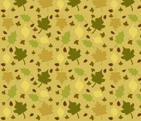 Fall-In-Leaves-Sepia fabric by sohaylasmith on Spoonflower - custom fabric