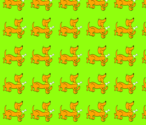 Dipley-Doo-Dog-Green fabric by mrssmith on Spoonflower - custom fabric
