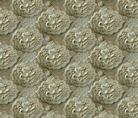 stone dragons fabric by hannafate on Spoonflower - custom fabric