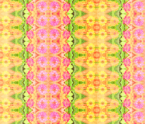 c_zinnia_border_6300x300_Picnik_collage fabric by khowardquilts on Spoonflower - custom fabric