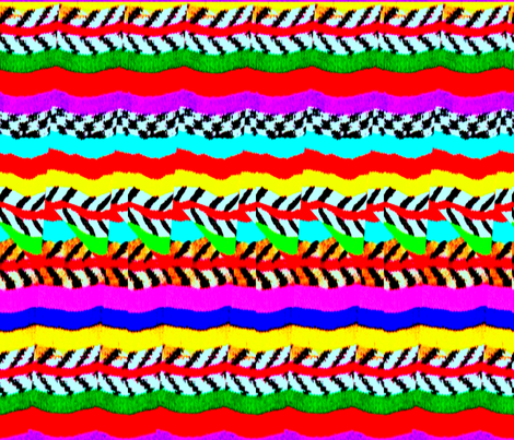 NATIVE_CRAZE_COLOR LAND domi_native_inc@yahoo.com fabric by dominativeinc on Spoonflower - custom fabric