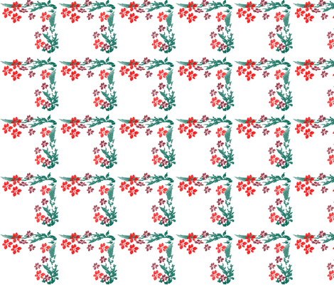 Pointsetta_3 fabric by snooky on Spoonflower - custom fabric