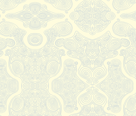Swirls_-_blue fabric by janicesheen on Spoonflower - custom fabric