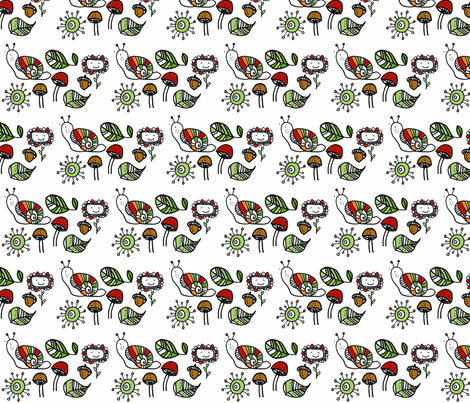 nature walk fabric by niccoco on Spoonflower - custom fabric