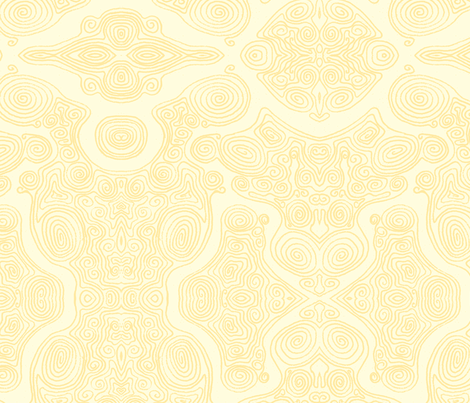 Swirls-_Yellow fabric by janicesheen on Spoonflower - custom fabric