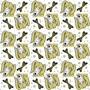 Hound Dog Polka Dots Bones