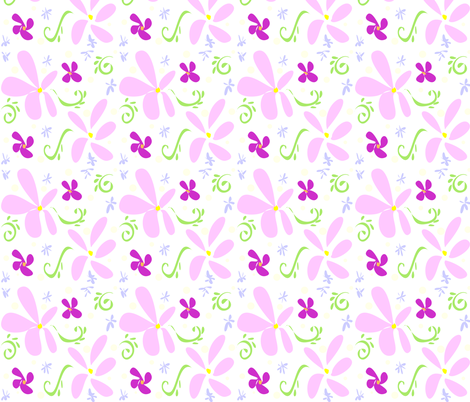 Pink Petals fabric by ikki_pokki on Spoonflower - custom fabric