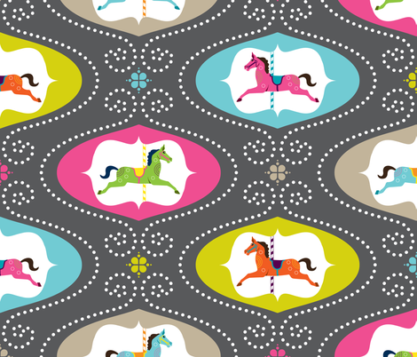 Merry Go Round fabric by zesti on Spoonflower - custom fabric