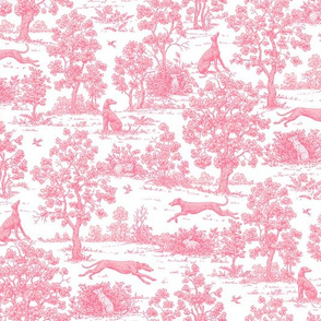 Light Pink Greyhound Toile 2010 by Jane Walker 