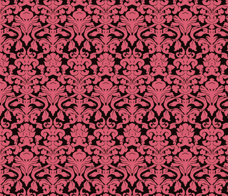 Light Pink Damask fabric by eskimokissez on Spoonflower - custom fabric