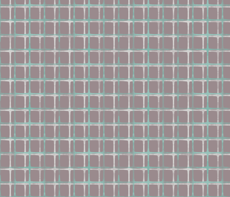 Mod Plaid (grey) fabric by leighr on Spoonflower - custom fabric