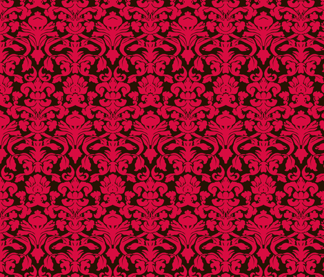 Red Damask fabric by eskimokissez on Spoonflower - custom fabric