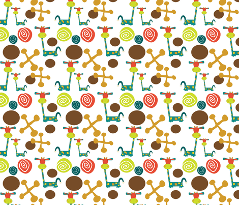 Jessie Giraffe Sheets fabric by sbd on Spoonflower - custom fabric