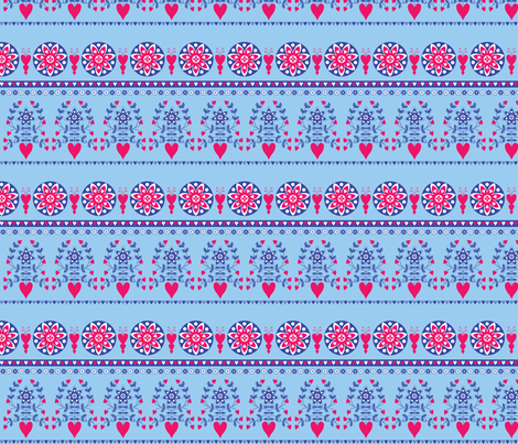 A flowergarden border fabric by shiny on Spoonflower - custom fabric