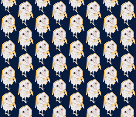 Favorite Owl fabric by owlandchickadee on Spoonflower - custom fabric