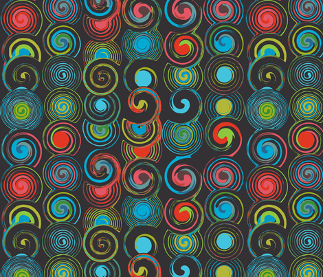 dark grey twirl fabric by jorz on Spoonflower - custom fabric