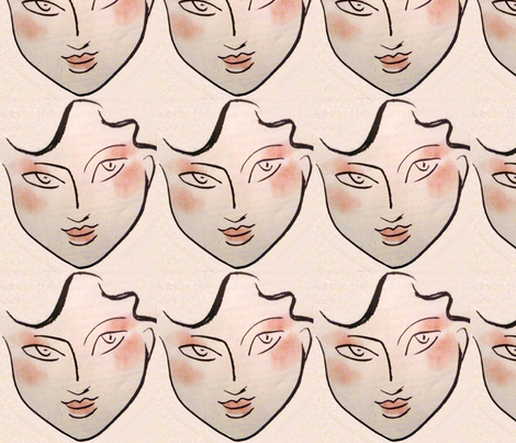 BABY_FACE by DOMINATIVEINC fabric by dominativeinc on Spoonflower - custom fabric