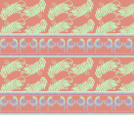 Mask & Fern fabric by cyndilou on Spoonflower - custom fabric