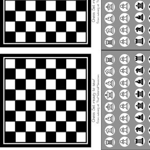 Sew your own! Chess Gameboard with Pieces