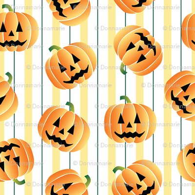 Pumpking with Stripes