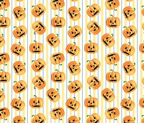 Pumpking with Stripes fabric by donnamarie on Spoonflower - custom fabric