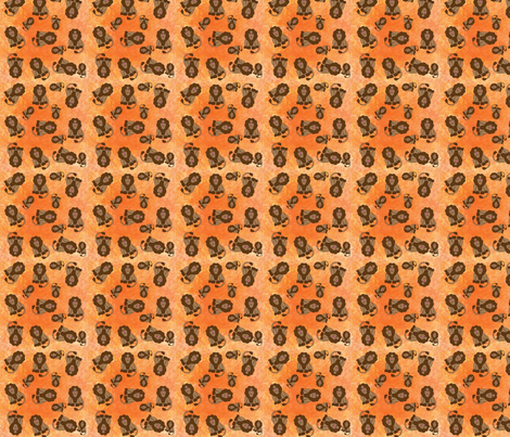 Lions fabric by snooky on Spoonflower - custom fabric