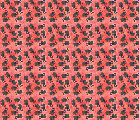 Elephants fabric by snooky on Spoonflower - custom fabric