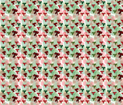 Christmas_Bows fabric by snooky on Spoonflower - custom fabric
