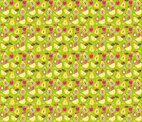 Pears, Strawberries, Lemons and Limes fabric by gomakeme on Spoonflower - custom fabric