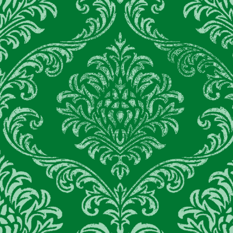 timeless brocade emerald fabric by paragonstudios on Spoonflower - custom fabric