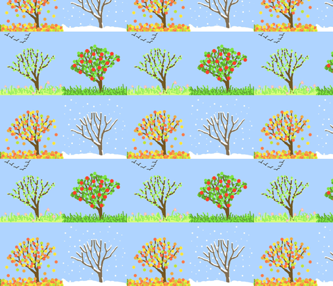 4seasons fabric by hevilja on Spoonflower - custom fabric