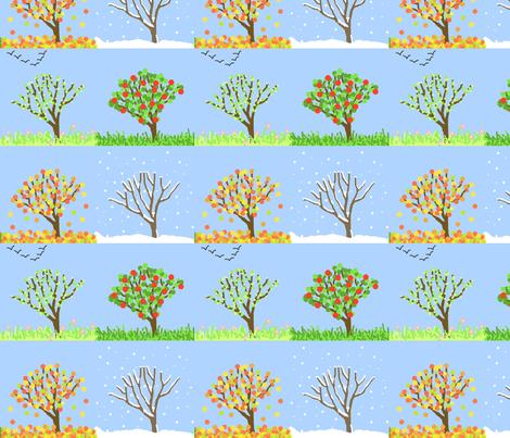 4seasons fabric by hevilja on Spoonflower - custom fabric