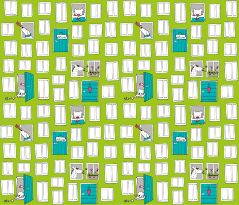 "SteffFabrics ""Windows and Doors"" Green"