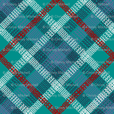 GoBaggery Whimsicle Tartan - Blue/Green/Red