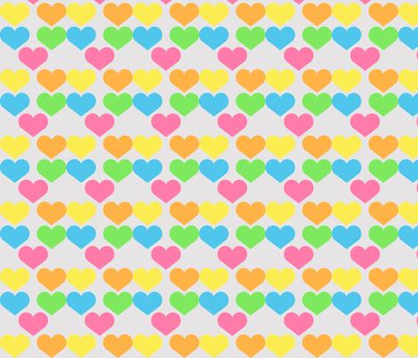 Hearts fabric by kaddy_w on Spoonflower - custom fabric