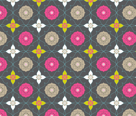 Merry Bloom  fabric by zesti on Spoonflower - custom fabric