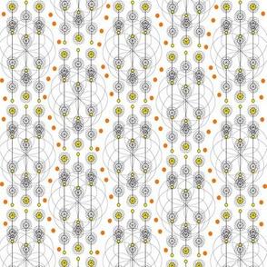 Retro Geometric Floral 1
